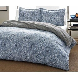 City Scene Milan Blue Twin Comforter Set