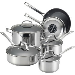 0f3439b9876e4bf92614e5b3fee875198972131a.jpg?url=https%3A%2F%2Fmedia.kohlsimg - Circulon Genesis 10-pc. Nonstick Stainless Steel Cookware Set, Grey