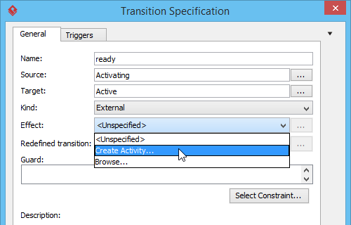 Create Activity from transition