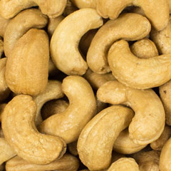 Roasted Unsalted Cashews 8 oz Container $11.99