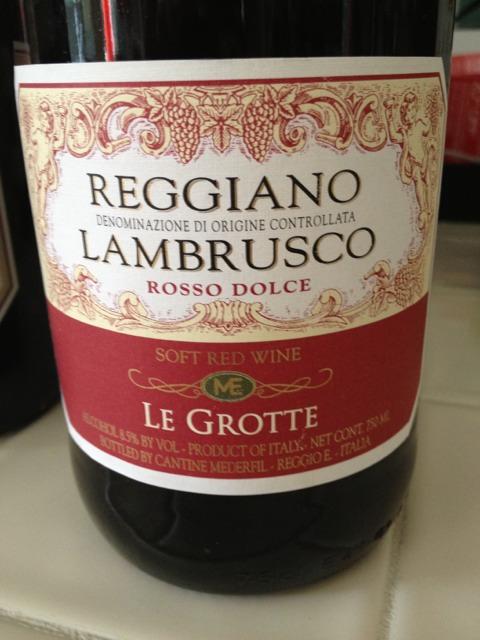 Dolce Reggiano Grotte Rosso Lambrusco Le