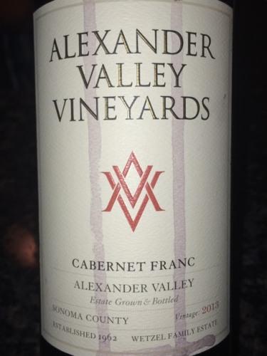 2013 Pairing Cabernet Valley Alexander