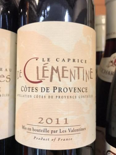 Chteau Les Valentines Le Caprice De Clmentine Ros 2011
