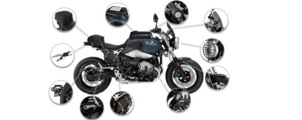 Ob Zusatzscheinwerfer, Lenkererhöhung oder Kennzeichenträger – Wunderlich hat einiges an Zubehör für die neue BMW R Nine T Pure im Angebot.