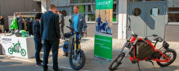 Das E-Bike bei der Future Mobility Summit 2019.