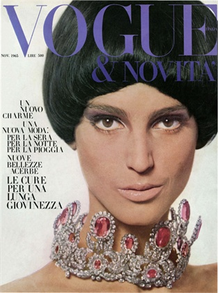 Benedetta Barzini on the cover of Italian Vogue's inaugural issue, November 1965