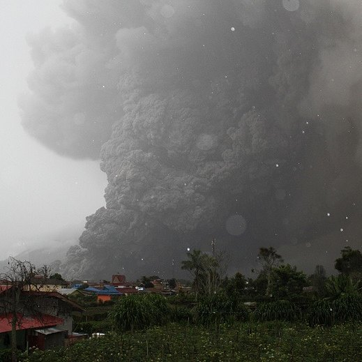 Sinabung volcano (Sumatra)