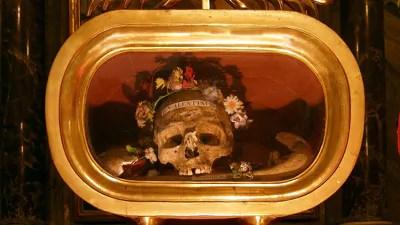 Reliekschrijn met de schedel van Valentijn