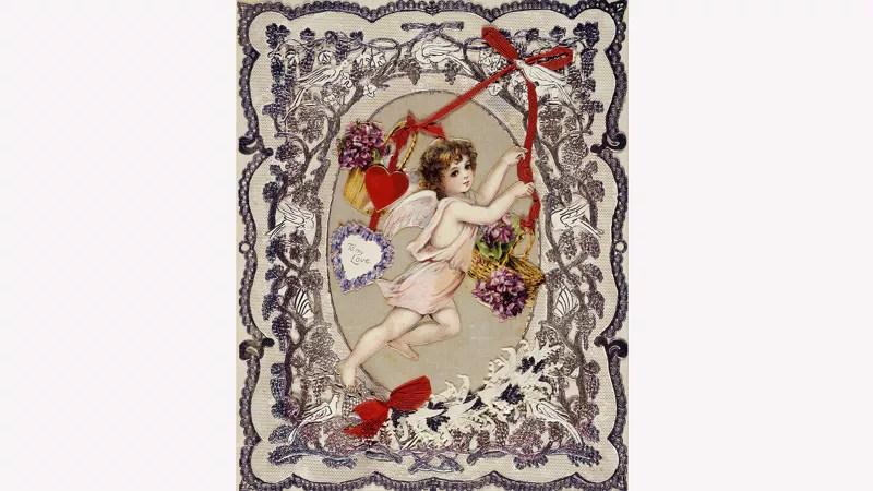 Victoriaanse Valentijnskaart, ca. 1860