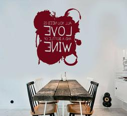 3447ig Vinyl Wall Decal Funny Quote For Kitchen Wine Shop Stickers Smpuabantul Sch Id