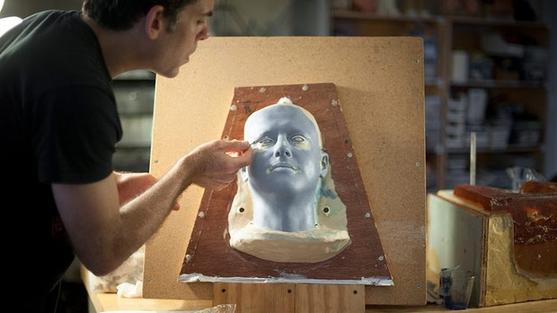 David Hanson, founder of Hanson Robotics, says his robotic model of Dmitry Itskov's head will use 36 motors to reproduce his facial expressions and voice.