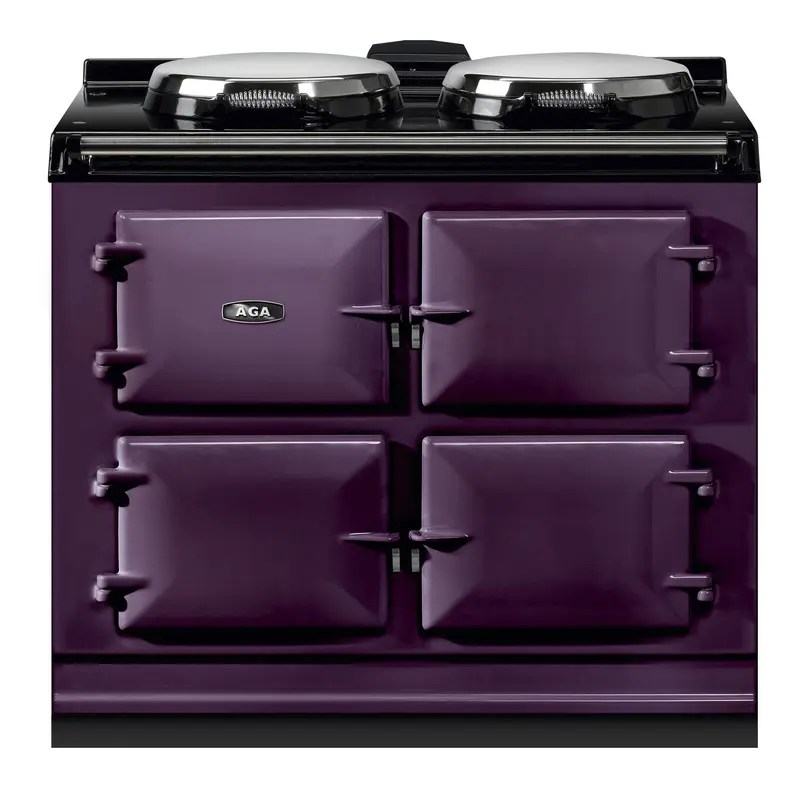 """Dual Control 39"""" Electric/Natural Gas Aubergine with Stainless Steel trim"""
