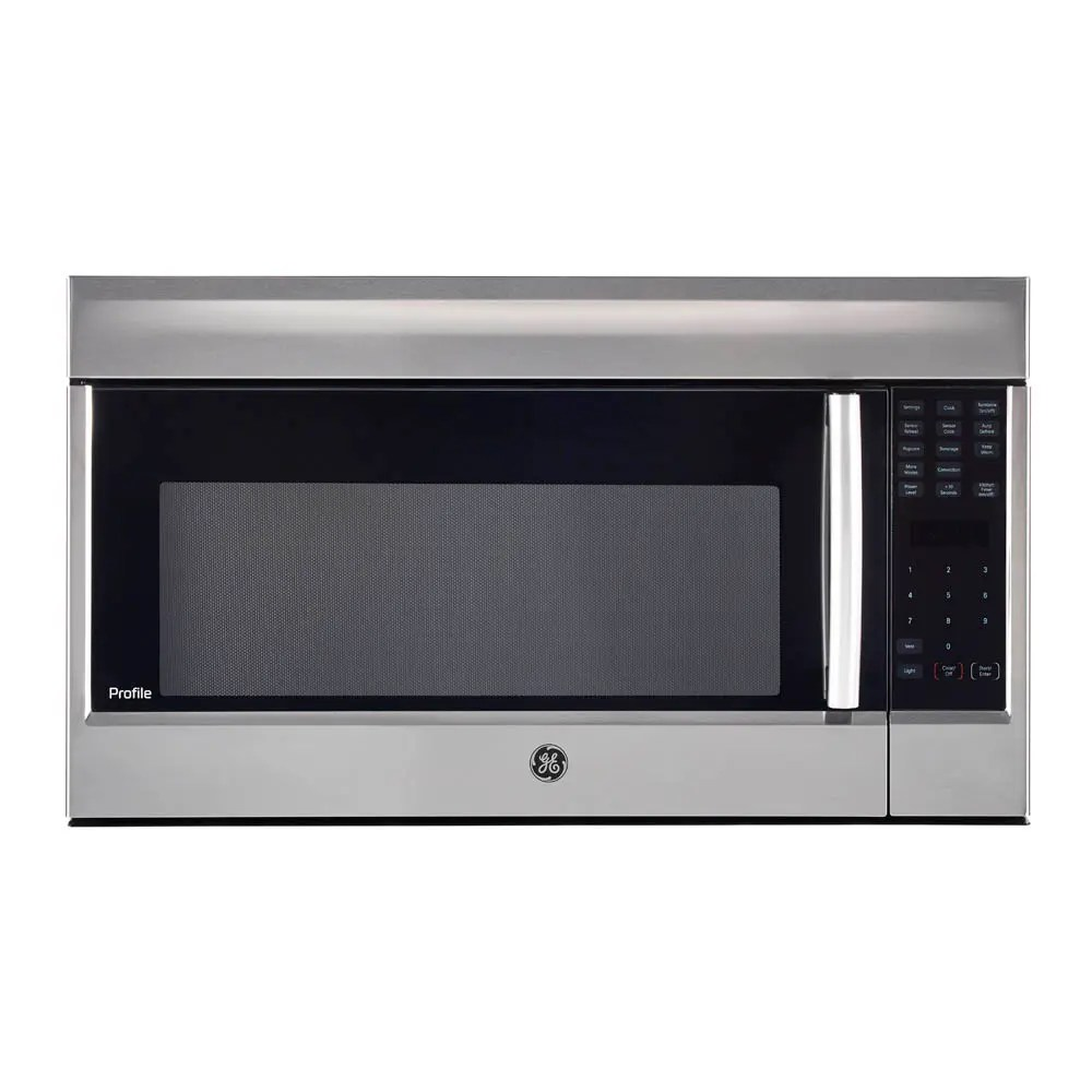ge profile 1 8 cu ft spacemaker over the range microwave oven stainless steel pvm1899sjc