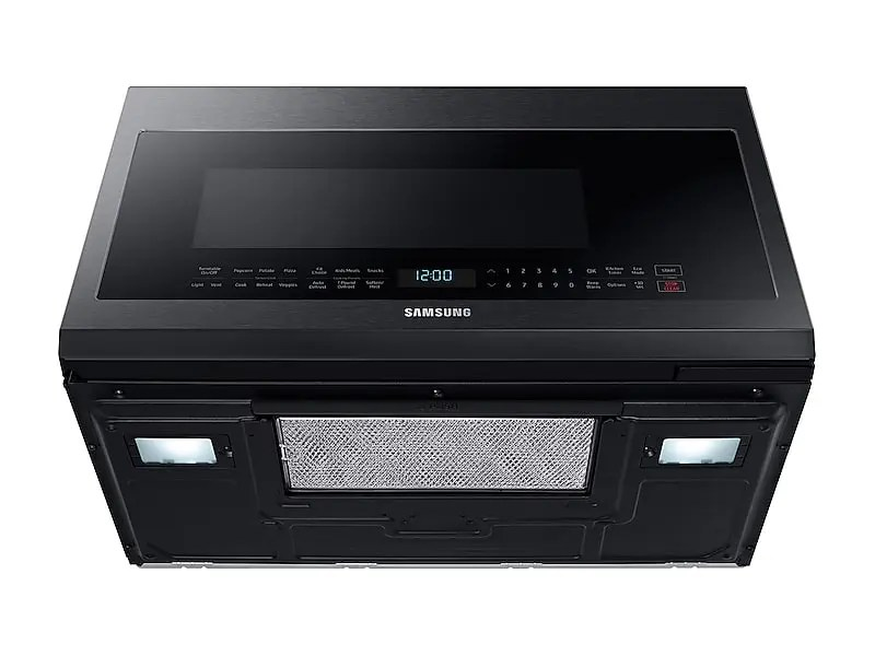 2 1 cu ft over the range microwave with sensor cooking in fingerprint resistant black stainless steel
