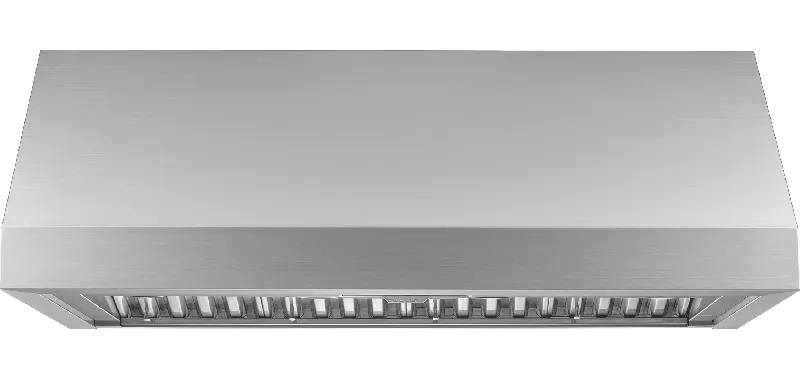 """48"""" Pro Wall Hood, 12"""" High, Silver Stainless Steel"""