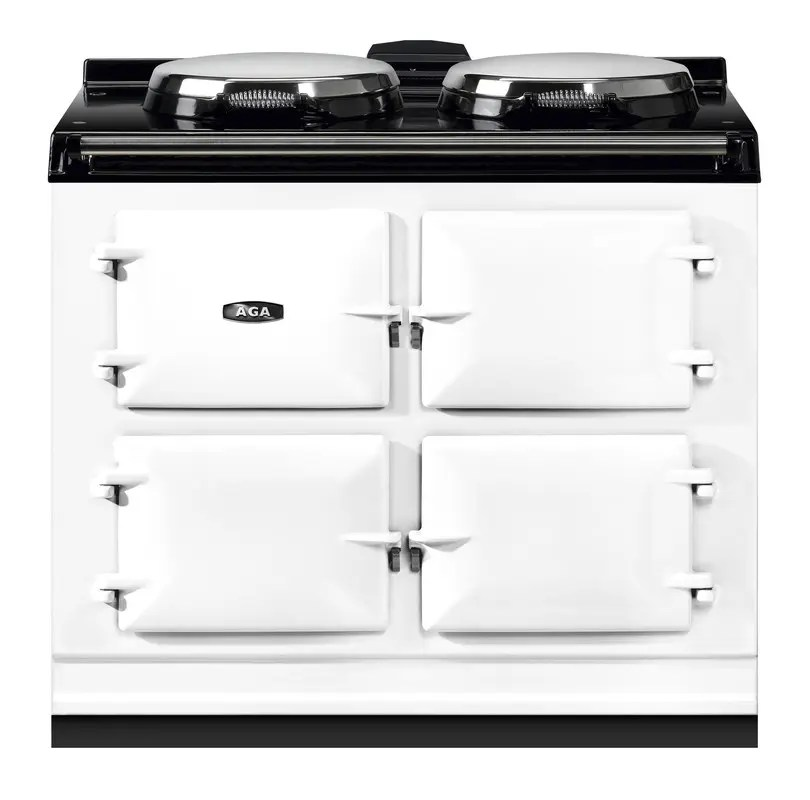 """Dual Control 39"""" Electric/Natural Gas White with Stainless Steel trim"""