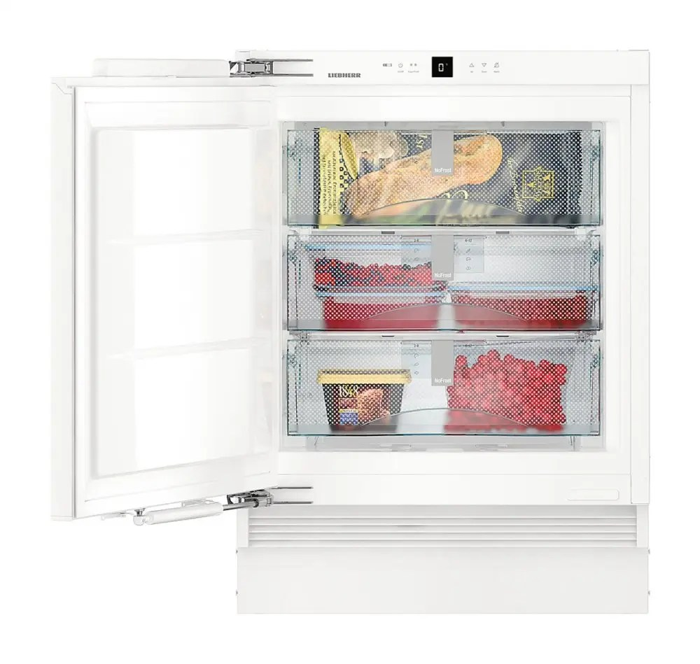 "24"" Integrable under-worktop freezer with NoFrost"
