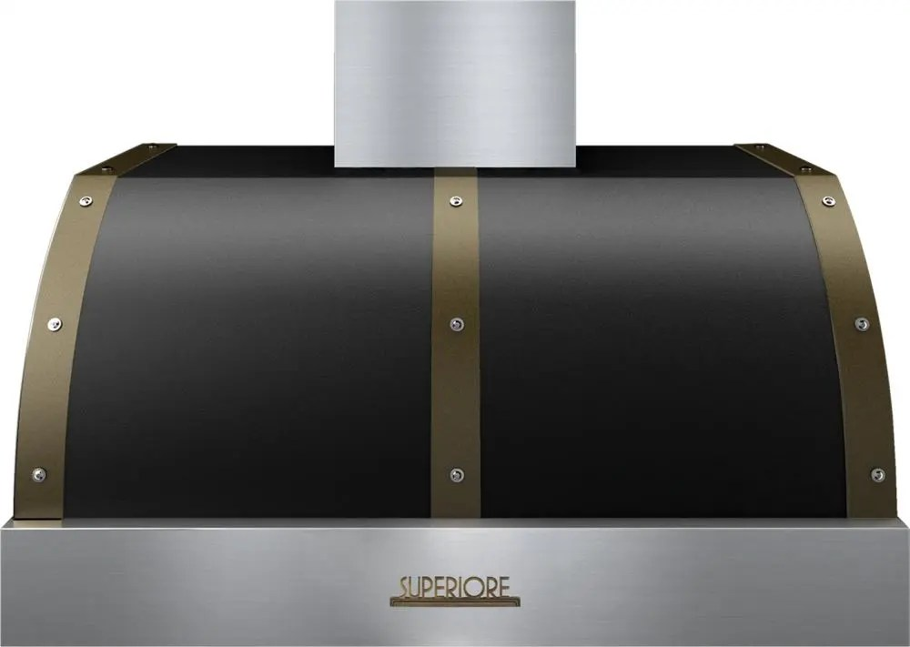 Hood DECO 36'' Black matte, Bronze 1 blower, electronic buttons control, baffle filters