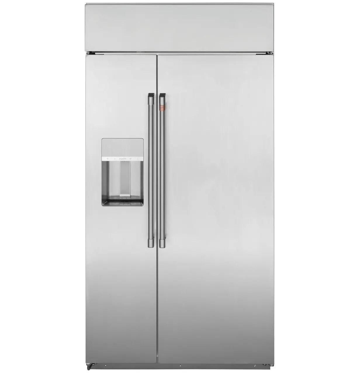 """Caf(eback) 42"""" Smart Built-In Side-by-Side Refrigerator with Dispenser"""