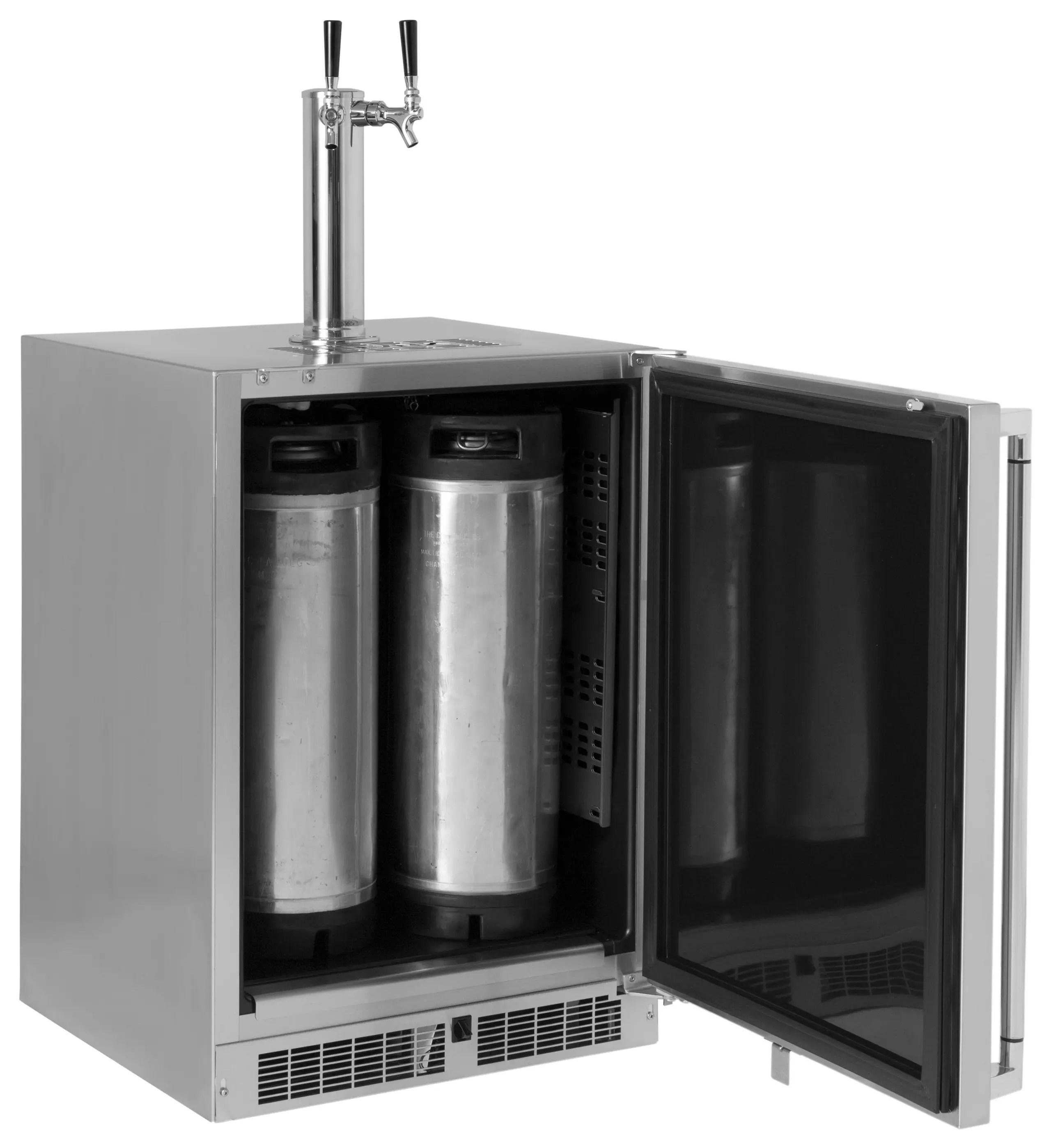 "24"" Refrigerator w/Keg option, Right Hinge"