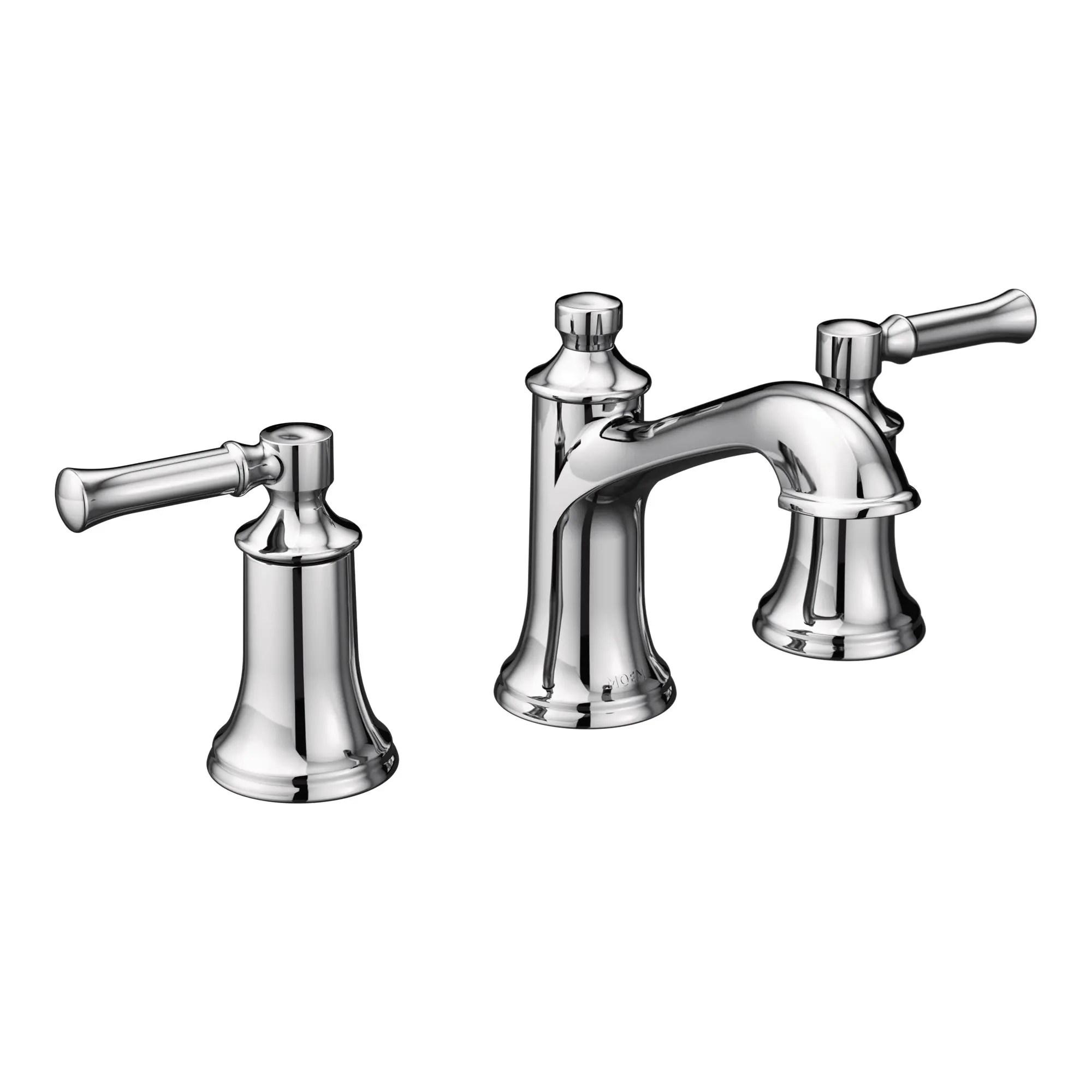 dartmoor chrome two handle high arc bathroom faucet