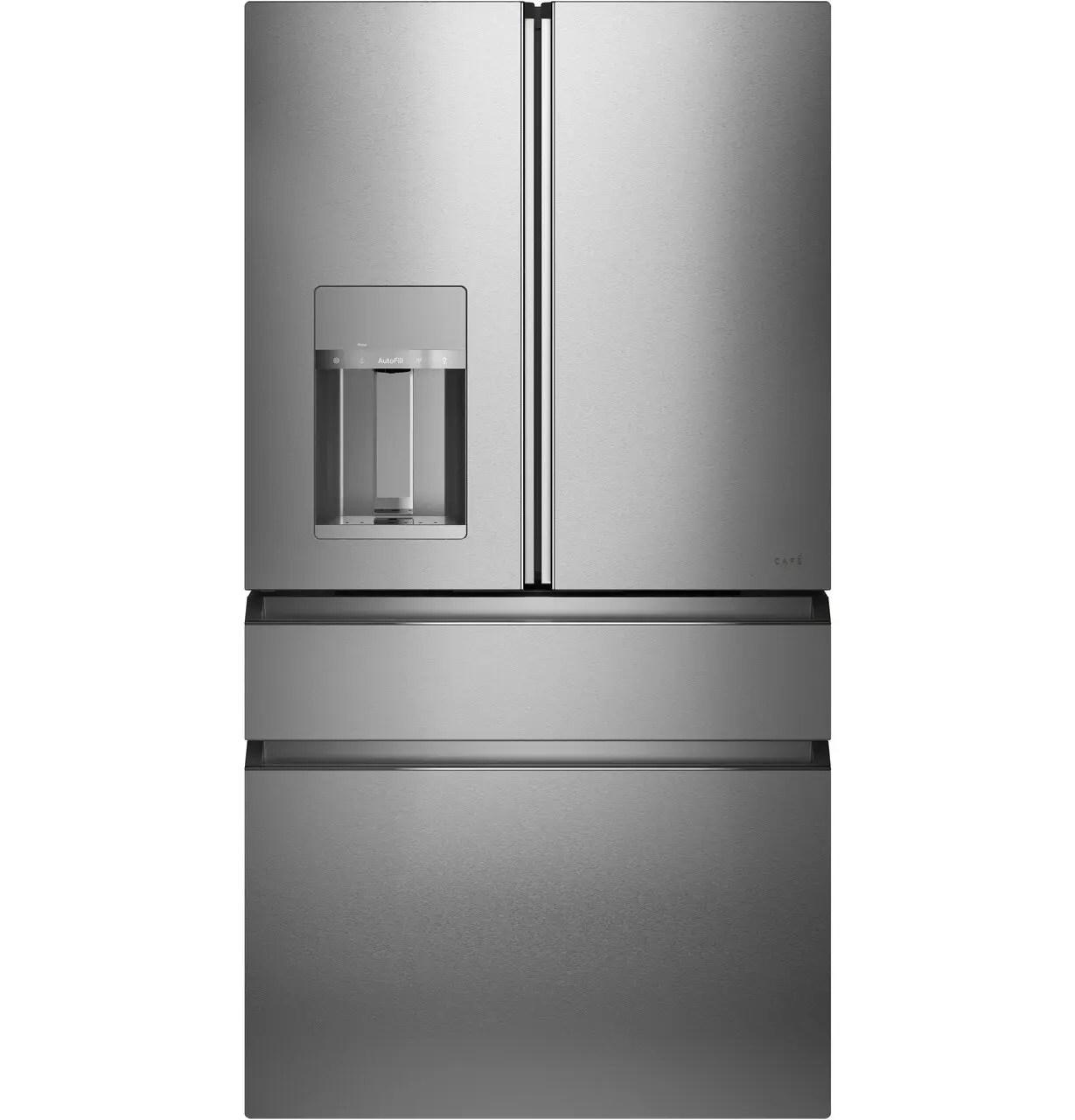 Caf(eback) ENERGY STAR® 27.8 Cu. Ft. Smart 4-Door French-Door Refrigerator in Platinum Glass