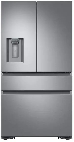 """36"""" Counter Depth French Door Bottom Freezer, Silver Stainless Steel"""