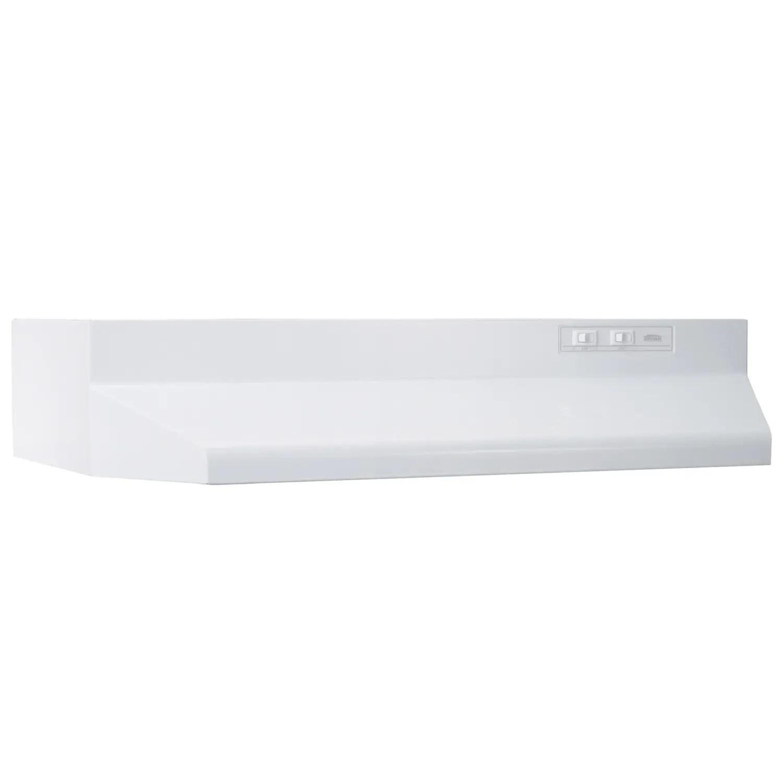 36-Inch Ducted Under-Cabinet Range Hood, 160 CFM, White