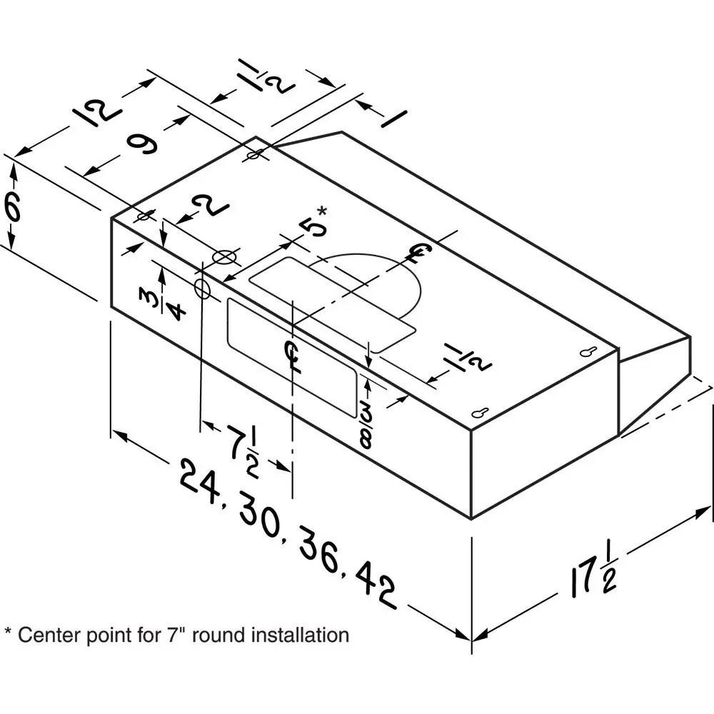 30-Inch Convertible Under-Cabinet Range Hood, 160 CFM, White Photo #4