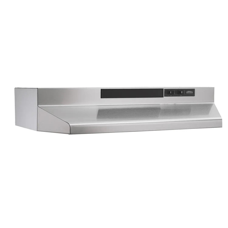 30-Inch Convertible Under-Cabinet Range Hood, 160 CFM, Stainless Steel
