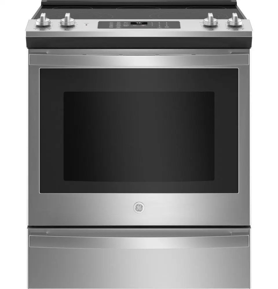 ge 30 slide in electric convection range with no preheat air fry