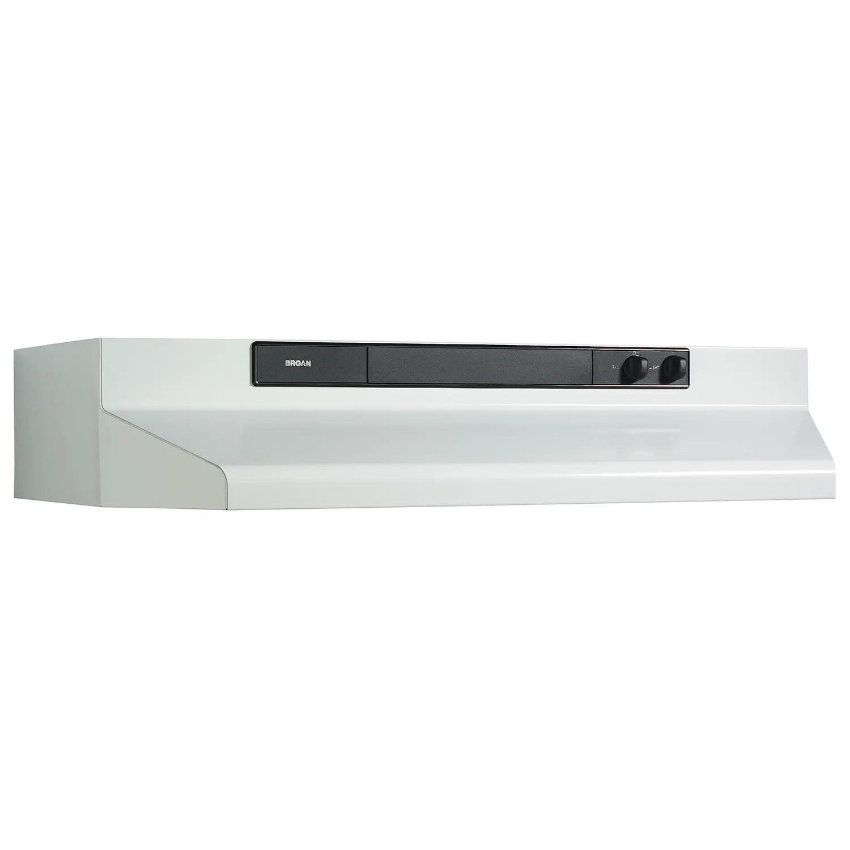 30-Inch Convertible Under-Cabinet Range Hood, 220 CFM, White