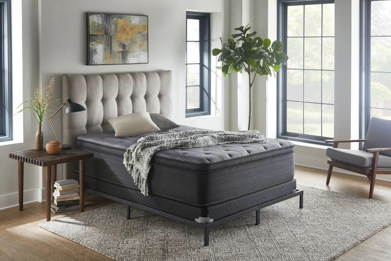 nightsbridge 15 plush pillow top mattress queen