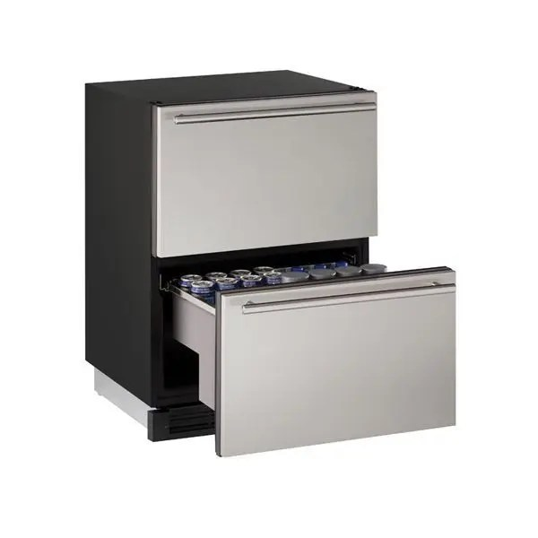 """1224dwr 24"""" Refrigerator Drawers With Stainless Solid Finish (115 V/60 Hz Volts /60 Hz Hz)"""