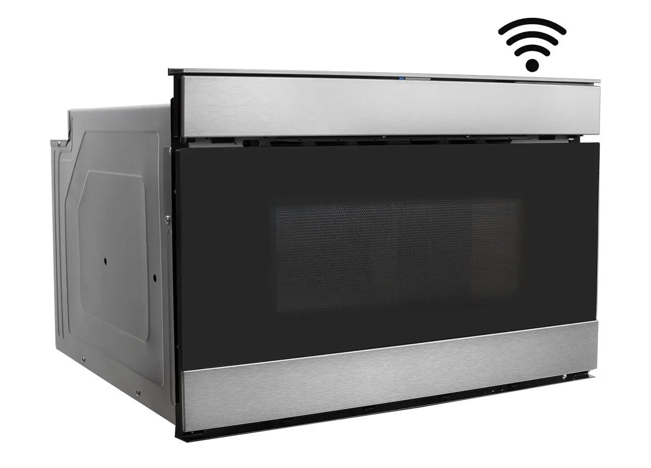 24 in 1 2 cu ft 950w sharp stainless steel iot easy wave open microwave drawer oven