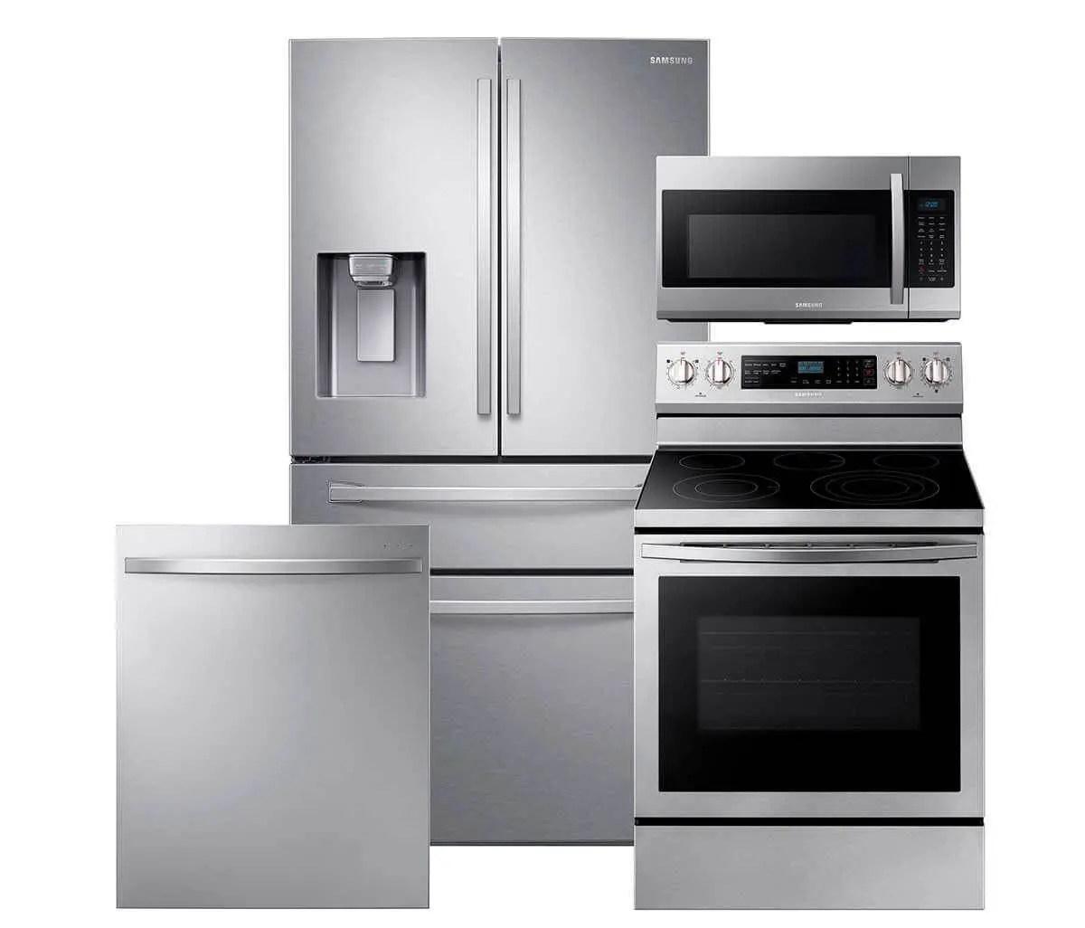 samsung french door 4 door refrigerator kitchen package stainless steel