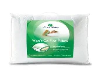 core sleep won t go flat pillow