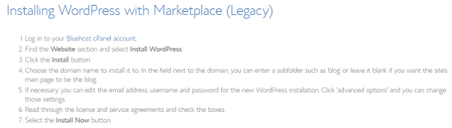 How to manually install WordPress with Bluehost