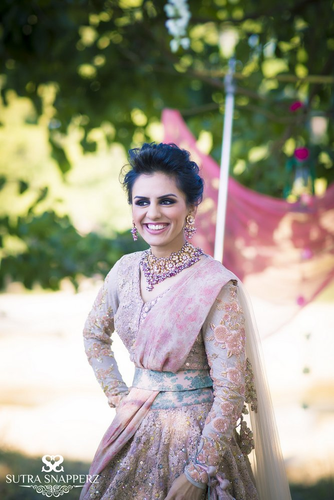 Floral Band Baaja Bride Shoot By Sutra Snapperz