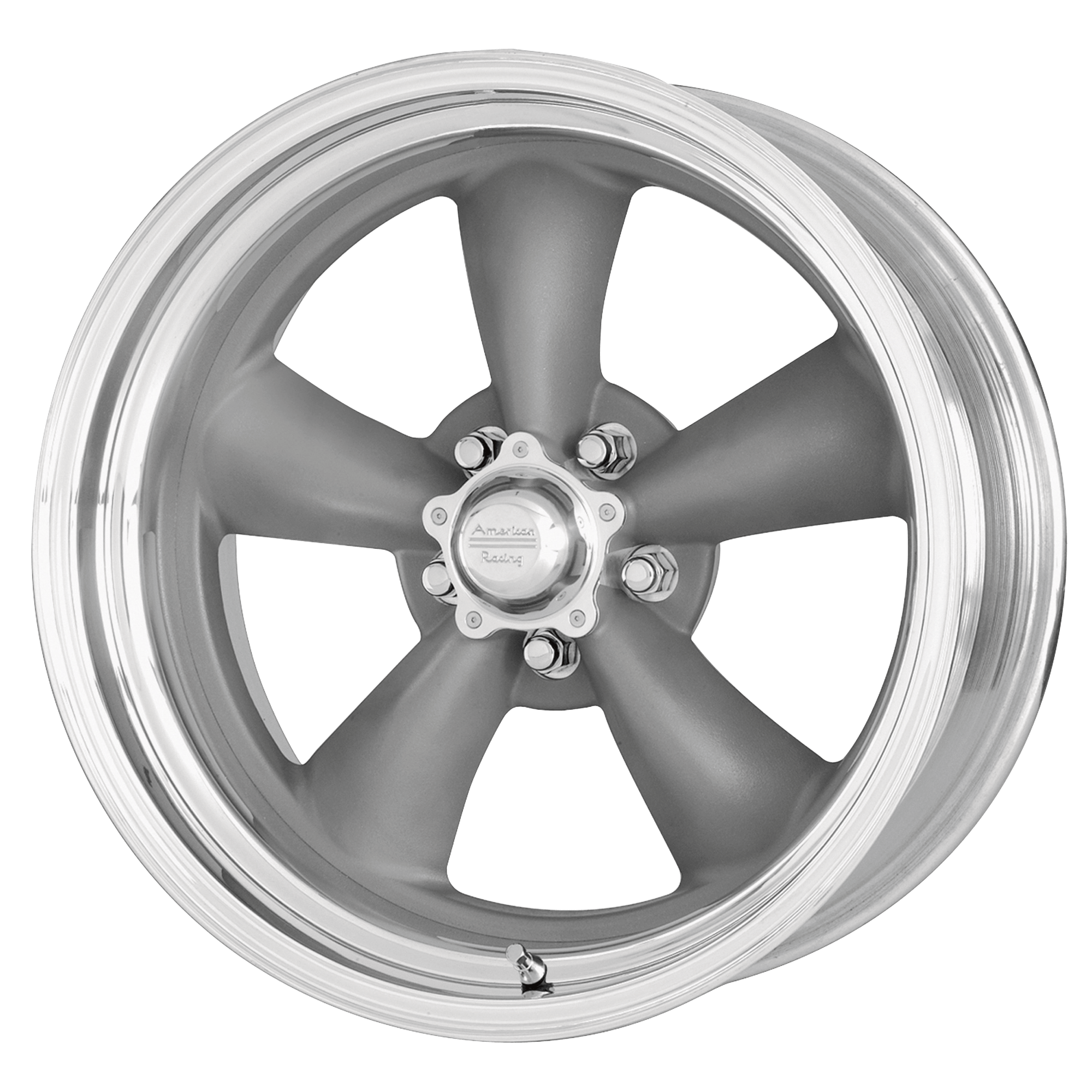 "AMERICAN RACING CLASSIC TORQ THRUST II ONE PIECE in Mag Gray Machined Lip (5×127 17""x7"" et0)"