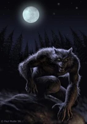 werewolf in moonlight