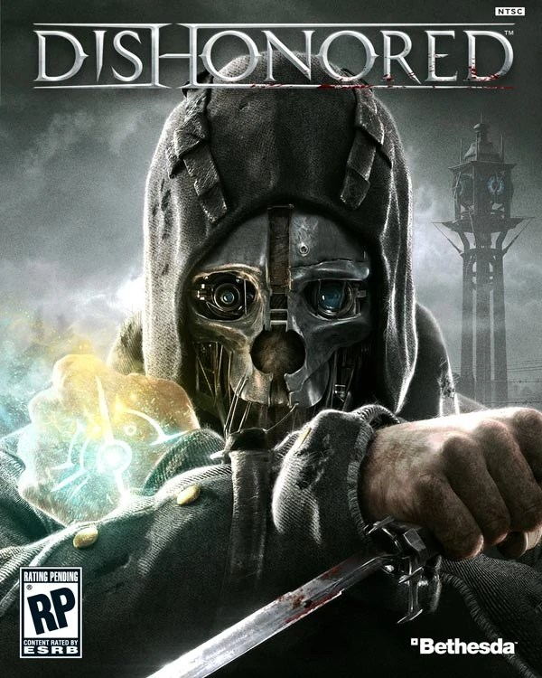 Dishonored, by Bethsheda, box art