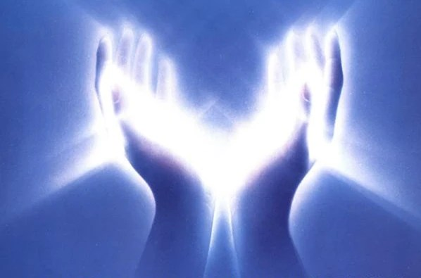 The power of healing may be simply within our hands of light