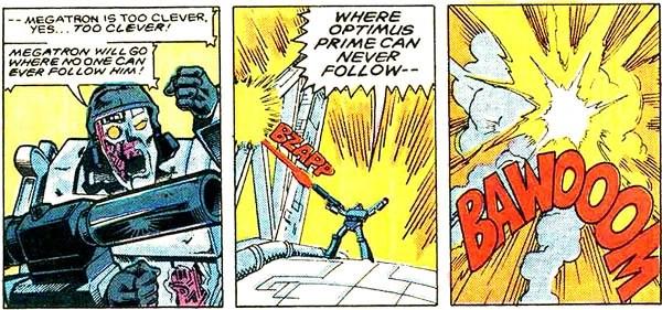 Cena de Transformers #25 da Marvel