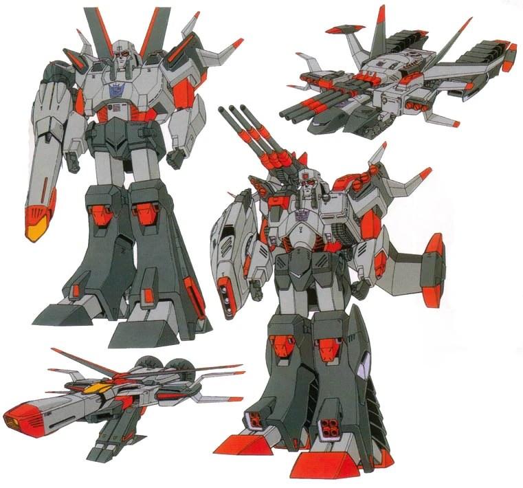 Megatron nas versões Super e Ultra em Battlestars