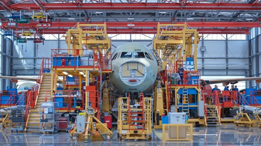 La costruzione di un Airbus (Getty Images)