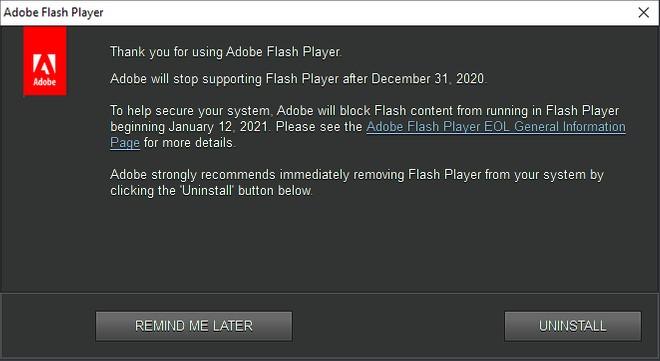 adobe flash fine supporto
