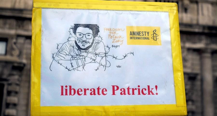Manifestazione a Milano per Patrick Zaki, illegalmente detenuto in Egitto (Milano - Maurizio Maule, Ipa)