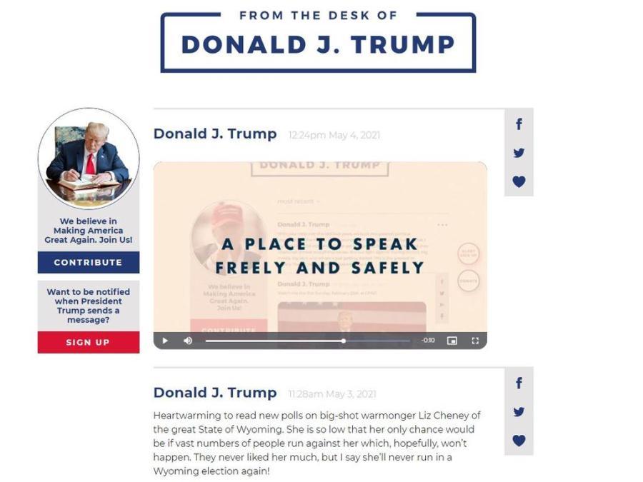 Donald Trump social