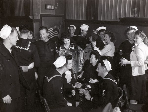 Sailors in a bar